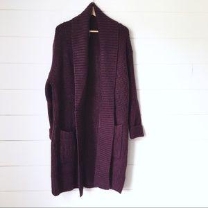 CAPSULE Plum Long Sweater Cardigan Coat